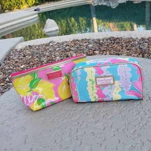 2 x Lilly Pulitzer EUC cosmetic bags